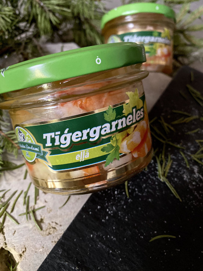 Tiger prawns in oil (190g)